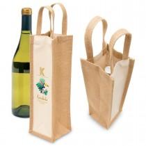 Eco Jute Wine Bag - Single