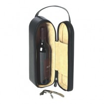 Genuine Leather Wine Carrier