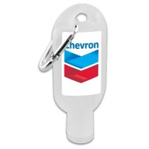 Hand Sanitiser with Carabiner - Clear