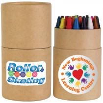 Crayons in Cardboard Tube