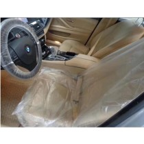 Disposable Plastic Car Seat, Steering Wheel & Gear Stick Covers