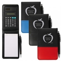 PVC Notepad with Calculator & Pen